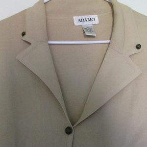 Lightweight blazer light tan size L by Adamo